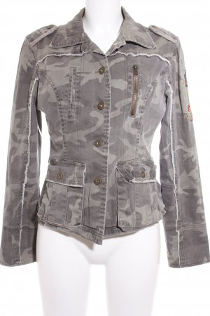 Boysen's Jeansjacke khaki-dunkelgrün Camouflagemuster Urban-Look