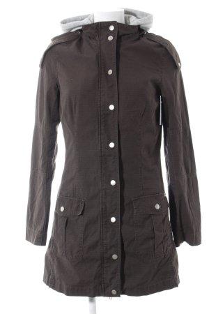 Boysen's Abrigo con capucha marrón oscuro-gris