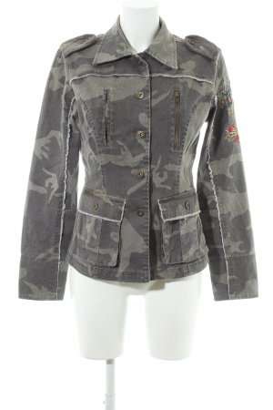 Boysen's Militaryjacke khaki-grüngrau Camouflagemuster Military-Look