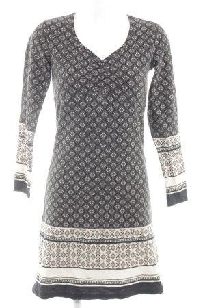 Boysen's Shirtkleid schwarz-weiß grafisches Muster Elegant