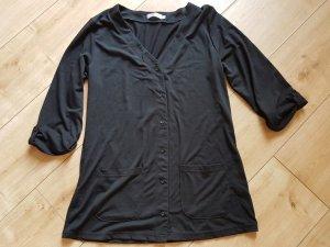 BPC Bonprix Collection Long Sweatjacke Shirtjacke 3/4 Arm Schwarz S 36