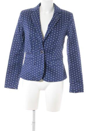 bpc Boyfriend-Blazer blau-weiß Punktemuster Business-Look