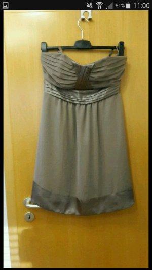 bpc Balloon Dress grey brown-ocher