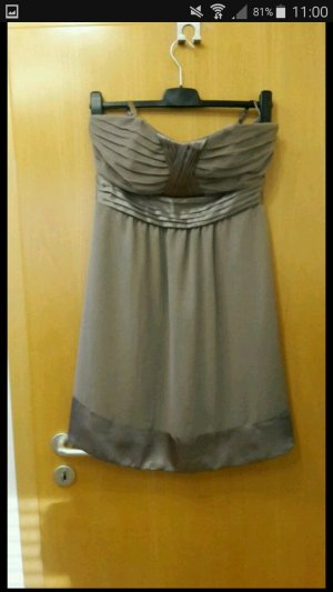 bpc vestido de globo marrón grisáceo-ocre