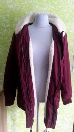 bpc Hooded Coat bordeaux mixture fibre