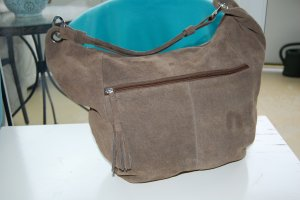 b.p.c. Bonprix Collection Borsa shopper marrone-grigio Scamosciato