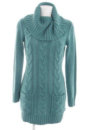 bpc Abito maglione blu punto treccia stile casual