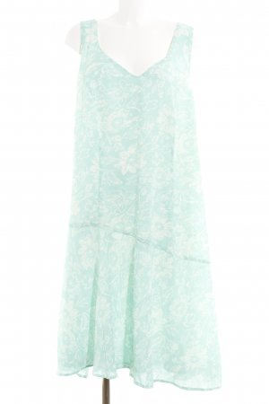 bpc selection A-Linien Kleid türkis-weiß florales Muster Casual-Look