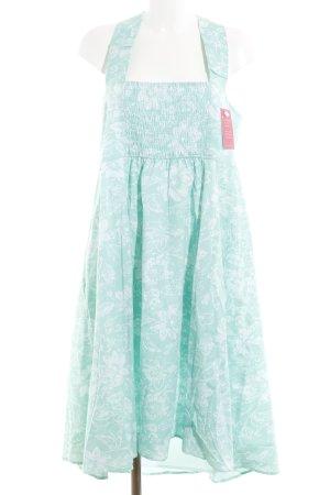 bpc selection A-Linien Kleid weiß-türkis Elegant