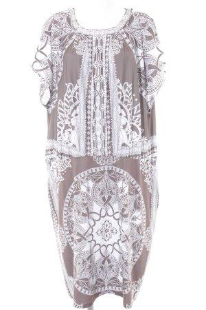 bpc selection Abendkleid hellbraun-wollweiß Mustermix Elegant