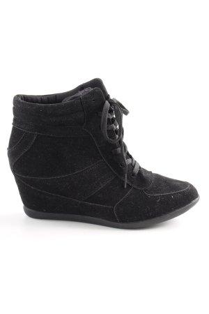 bpc selection Absatz Sneaker schwarz Casual-Look