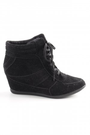 bpc selection Absatz Sneaker schwarz Casual-Look