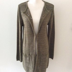 bpc selection Coarse Knitted Jacket green grey