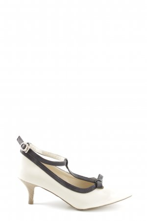 bpc selection Mary Jane Pumps natural white-black business style