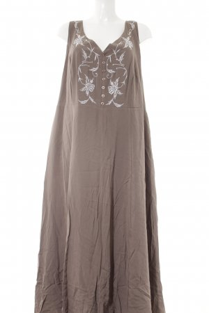 bpc selection Maxikleid hellbraun florales Muster Street-Fashion-Look