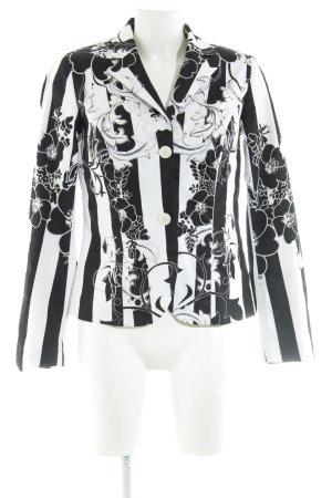 BPC Selection Premium Short Blazer black-white flower pattern business style