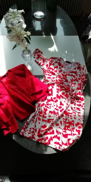 bpc selektion, rot/weißes Sommerkleid mit Bolero