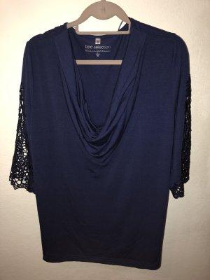 bpc selection Camisa con cuello caído azul oscuro