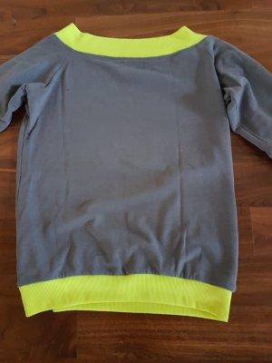 b.p.c. Bonprix Collection Sweatshirt gris-jaune fluo