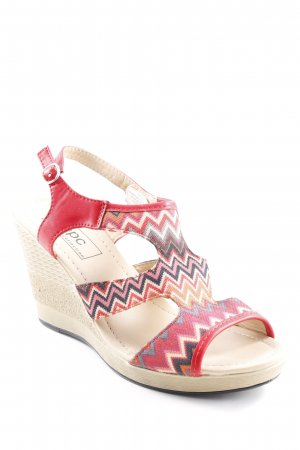 bpc Wedges Sandaletten Zackenmuster 70ies-Stil