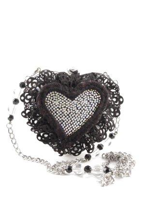 Braccialini Clutch schwarz-weiß extravaganter Stil