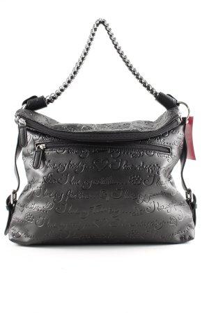 Braccialini Shoulder Bag black printed lettering casual look