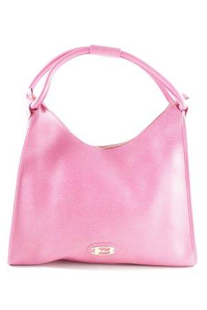 Braccialini Sac porté épaule rose élégant