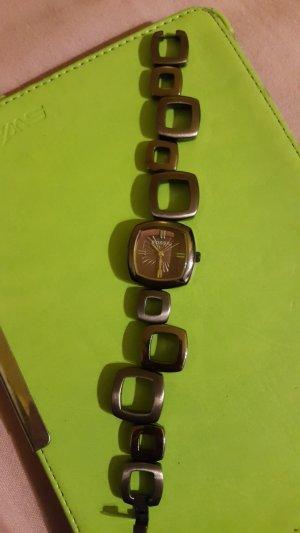 Fossil Horloge met metalen riempje bruin