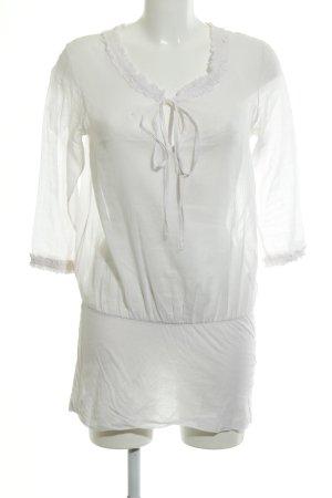 Braez Blouse longue blanc style romantique