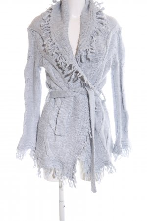 Braez Cardigan tricotés gris clair torsades style décontracté