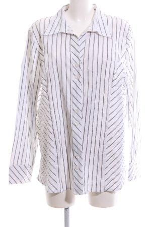 Brand Long-Bluse weiß-schwarz Streifenmuster Business-Look