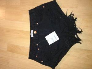 Pantaloncino di jeans nero