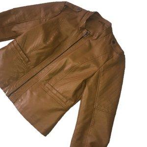 Noisy May Veste en cuir brun