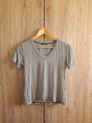 Brandy Melville Basic Casual Shirt gestreift schwarz weiß Gr. S