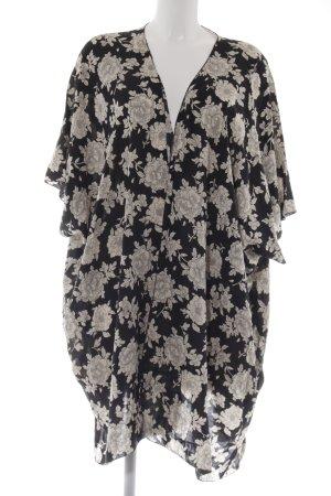 Brandy & Melville Cardigan schwarz-creme Blumenmuster Romantik-Look