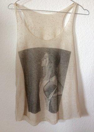 Brandy Melville Creme Printed Visual Tunic