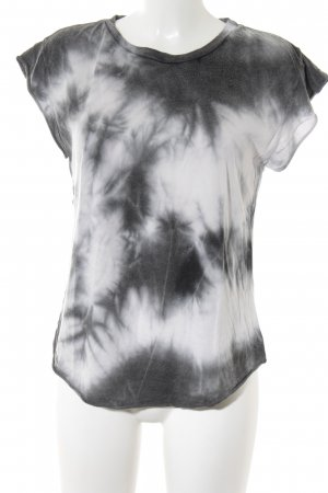 Brandy & Melville T-shirt court gris anthracite-gris clair motif batik