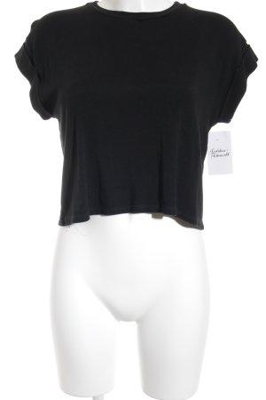 Brandy & Melville Cropped Shirt schwarz schlichter Stil