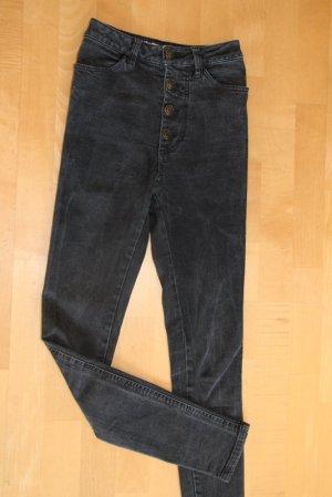Brandy & Melville Jeans taille haute noir tissu mixte