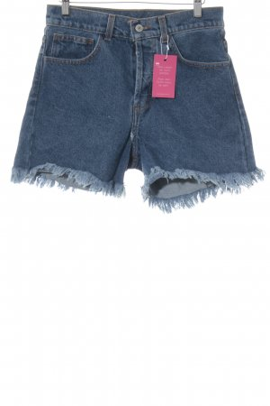 Brandy & Melville Jeansshorts stahlblau Jeans-Optik