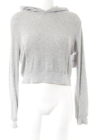 Brandy & Melville Capuchon sweater lichtgrijs-grijs gestippeld