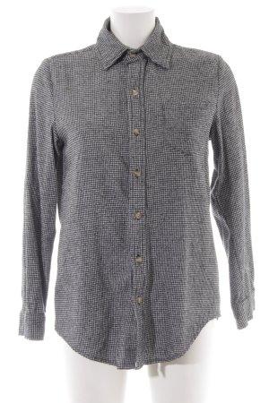 Brandy & Melville Langarm-Bluse schwarz-wollweiß Hahnentrittmuster