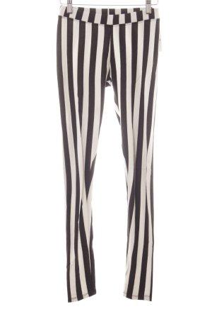 Brandy & Melville Leggings negro-blanco estampado a rayas look Street-Style