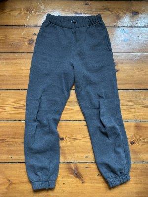 Brandy & Melville Pantalón deportivo gris oscuro Algodón