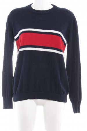 Brandy & Melville Kraagloze sweater donkerblauw casual uitstraling