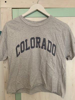 Brandy & Melville Cropped Shirt light grey