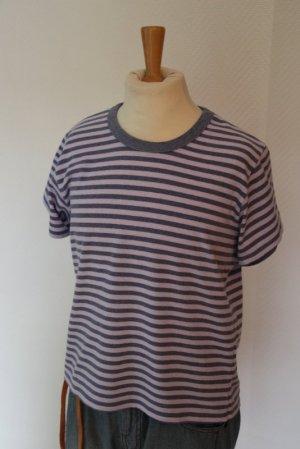 Brandy & Melville Gestreept shirt mauve-grijs-lila Gemengd weefsel