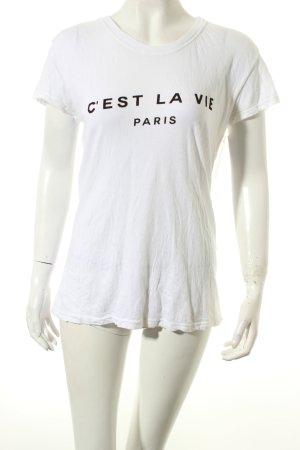 Brandy & Melville Shirt weiß Casual-Look
