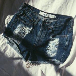 Brandy & Melville Denim Shorts dark blue
