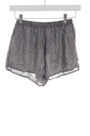 Brandy & Melville Shorts schwarz-weiß Blumenmuster Casual-Look